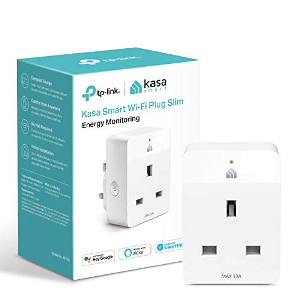 Kasa Mini Smart Plug by TP-Link, WiFi Outlet with Energy Monitoring, Works with Amazon Alexa(Echo and Echo Dot), Google Home and Samsung SmartThings, Wireless Smart Socket (KP115)
