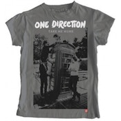 One Direction Take Me Home Album Skinny Grey TS: Large