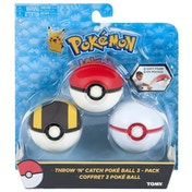 Pokemon Throw N Catch Poke Ball Pack of 3