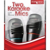 Blue Ocean Dual Wired Microphone Pack for PS3 Wii & 360