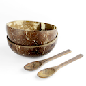 Pack of 2 Natural Coconut Bowls | M&W