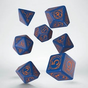 Q-Workshop Wizard Dark Blue & Orange Dice Set