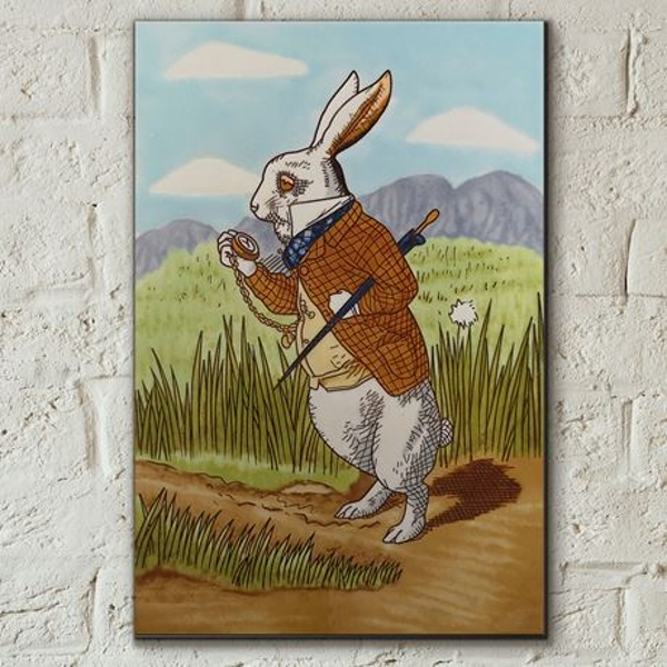 Tile 8x12 Rabbit From Alice In Wonderland Wall Art