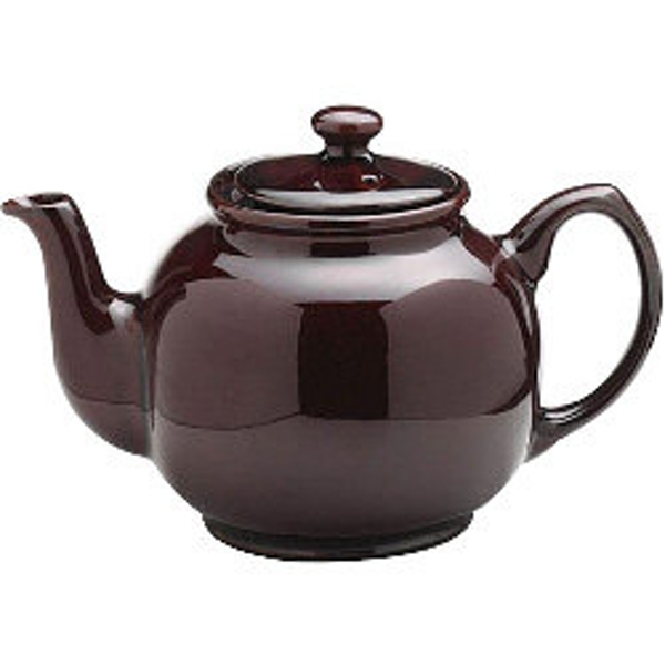 Price & Kensington Rockingham Brown Gloss Teapot 500ml (2 Cup)