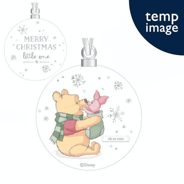 Winnie & Piglet Ceramic Bauble - Merry Christmas