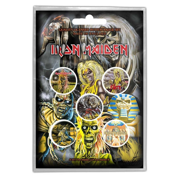Iron Maiden - Early Albums Button Badge Pack