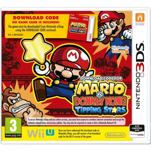 Mario vs Donkey Kong Tipping Stars 3DS Game (Code In A Box)