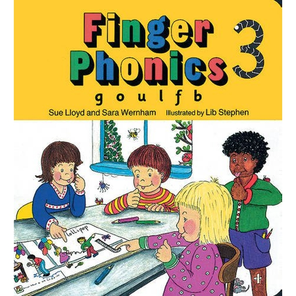 Finger Phonics book 3: in Precursive Letters (BE) by Sue Lloyd, Sara Wernham (Board book, 1994)