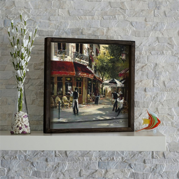 KZM536 Multicolor Decorative Framed MDF Painting