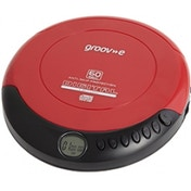 Groov-e GVPS110RD Retro Series Personal CD Player - Red