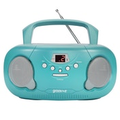 Groov-e GVPS733TL Original Boombox Portable CD Player with Radio Teal UK Plug