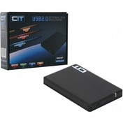 CiT 2.5-Inch USB 2.0 Sata HDD Tooless Enclosure Black