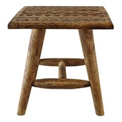 Kasbah Design Small Hand Carved Wooden Stool