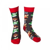 Nintendo Super Mario Bros. Men's Size 43/46 Mario Pixel Art Socks