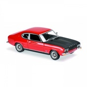 Maxichamps 1:43 Scale 1969 Red Ford Capri RS Die Cast Model