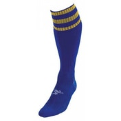 PT 3 Stripe Pro Football Socks Mens Royal/Gold