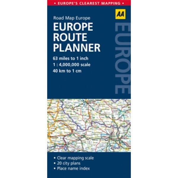 Europe Route Planner: AA Road Map Europe by AA Publishing (Sheet map, folded, 2014)