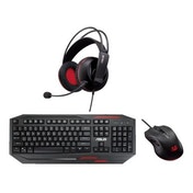 Asus Gamer Bundle GK100 Sagaris Keyboard, Cerberus Mouse & Cerberus Headset Included, Soft Bundle