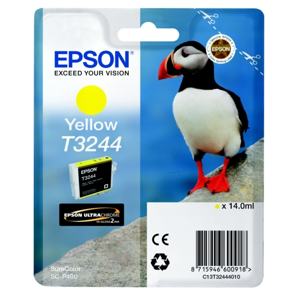 Epson C13T32444010 (T3244) Ink cartridge yellow, 980 pages, 14ml