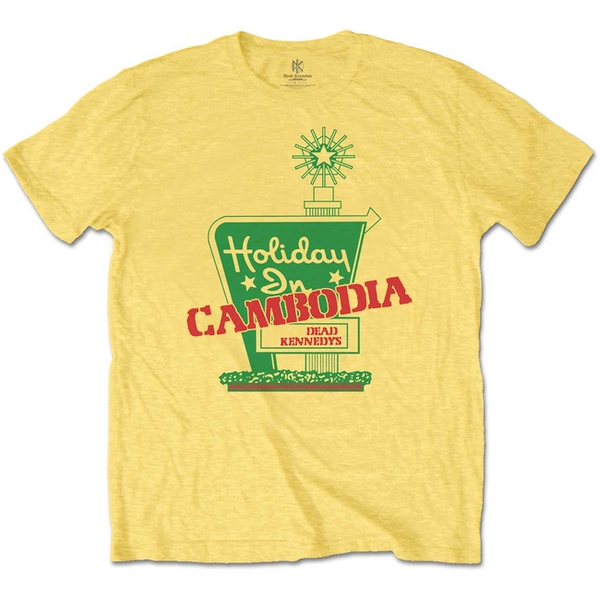 Dead Kennedys - Holiday in Cambodia Men's Small T-Shirt - Daisy Yellow