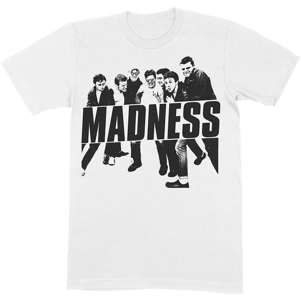 Madness - Vintage Photo Unisex Medium T-Shirt - White