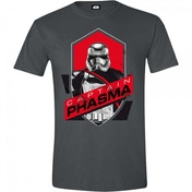 Star Wars VII Mens The Force Awakens Captain Phasma Shield X-Large T-Shirt