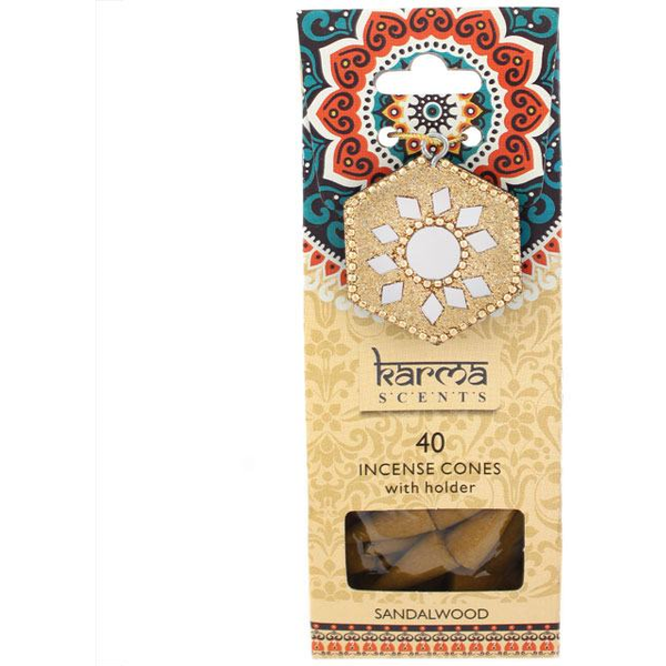 Karma Sandalwood Incense Cones Gift Set