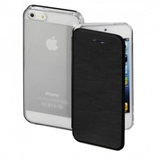 Hama Clear Booklet Case for Apple iPhone 5/5s/SE Black Synthetic Material