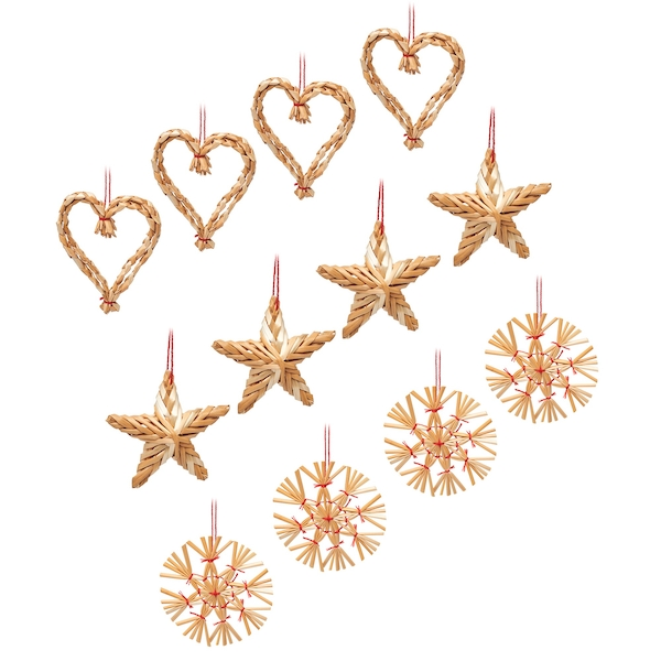 Sass & Belle Straw Decorations - Set of 12