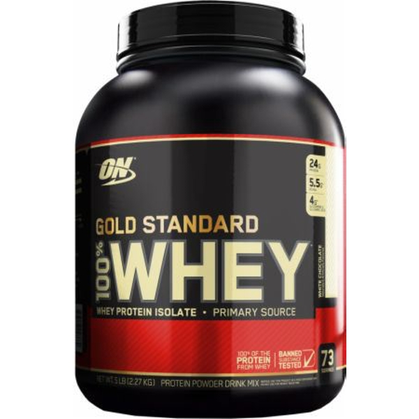 Optimum Nutrition Gold Standard (White Chocolate Raspberry) 100% Whey 2.27Kg Protein Powder