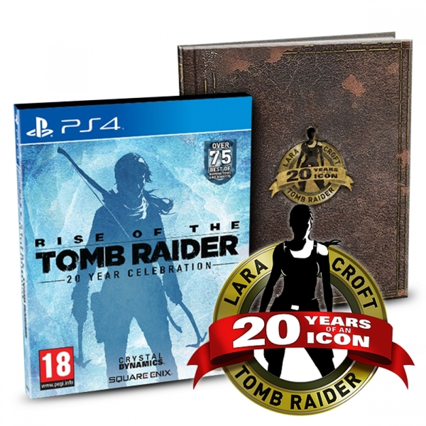 Rise of the Tomb Raider 20 Year Celebration Limited Edition PS4 Game (with Sew on Patch)