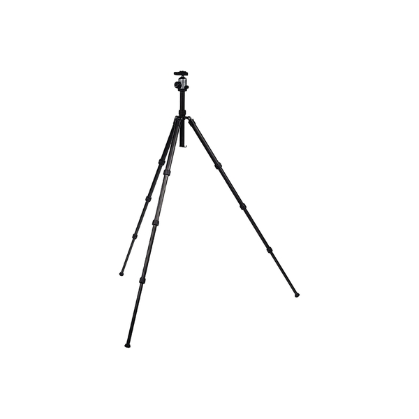 Image of Camlink Carbon Fibre Lightweight Traveller Ball Head Tripod (Max Height 139cm) - Black
