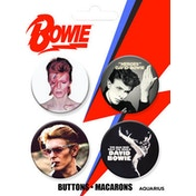 Bowie Buttons 4 Pack