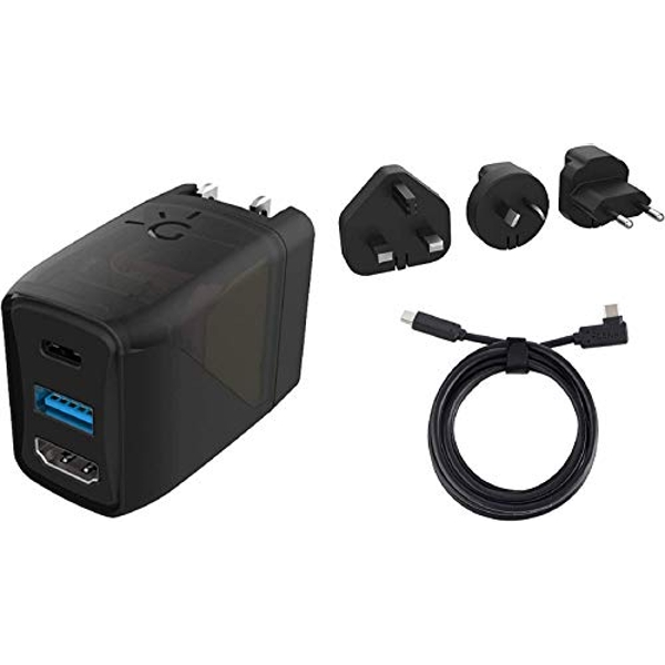 Genki Covert Dock - Portable Nintendo Switch TV Docking Station and Charger, USB-C, USB-A and HDMI Port to Connect and Charge Laptop, Phone and Accessories, Includes 3 International Adapters