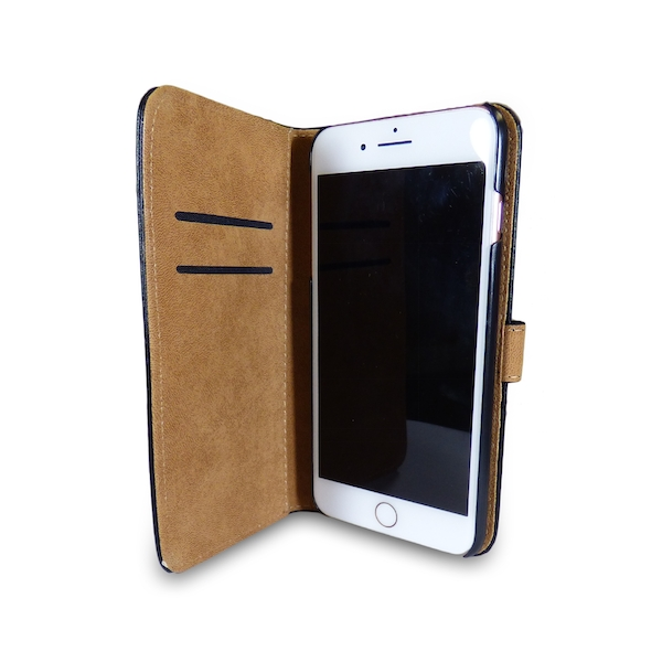 iPhone 5/5s/SE Black Leather Phone Case + Free Screen Protector Flip Wallet Gadgitech - Image 5