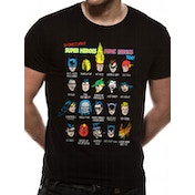 Justice League - Superhero Issues Men's Medium T-Shirt - Black