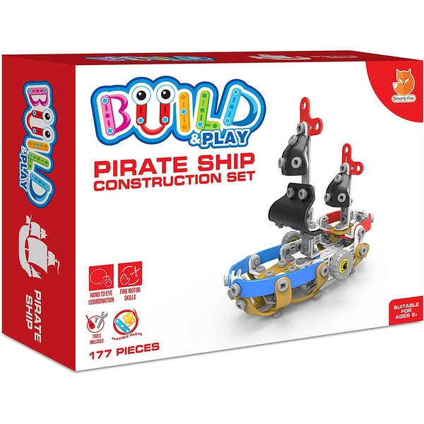 Build & Play - Pirate Ship Construction Set