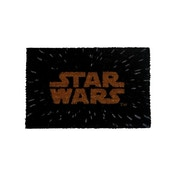 Star Wars Gold Main Logo in Space Door Mat