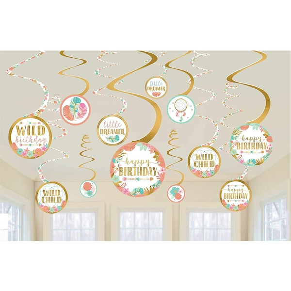 Happy Birthday Swirl Decorations