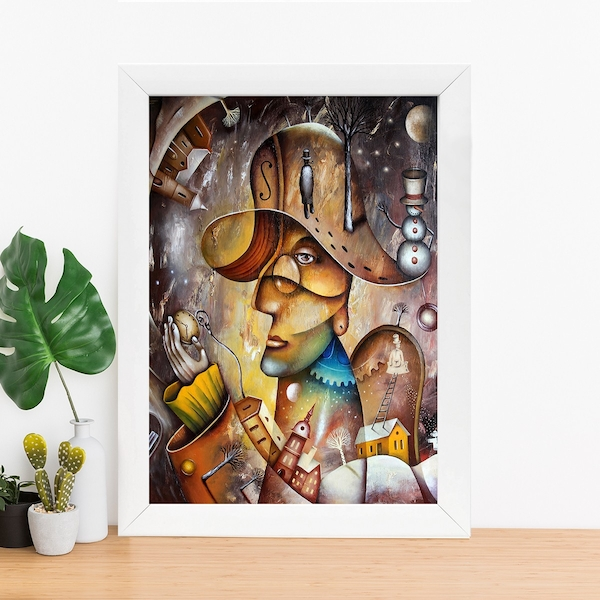 BC1028564926 Multicolor Decorative Framed MDF Painting