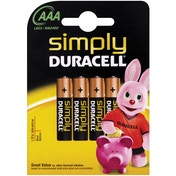 Duracell Simply AAA 4 Pack MN2400B4S