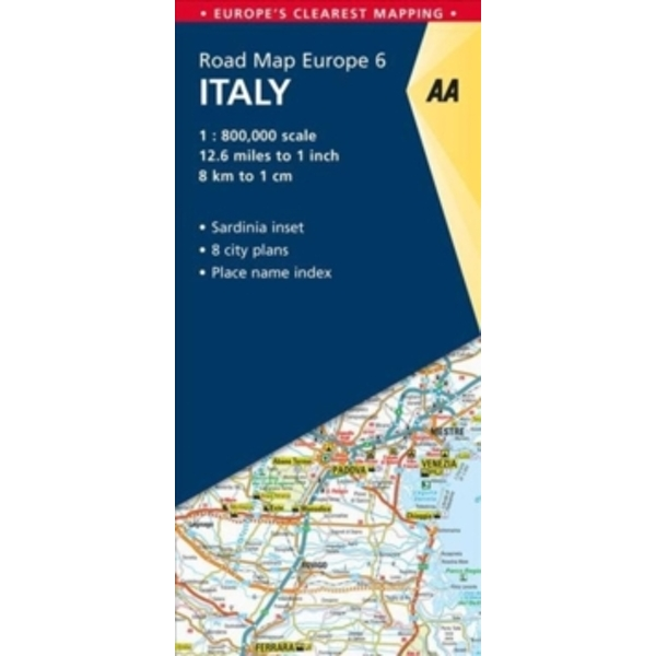 Clear Map Of Italy.6 Italy Aa Road Map Europe