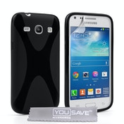 YouSave Accessories Samsung Galaxy Core Plus Silicone Gel X-Line Case - Black