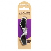Rosewood Sparkle Black Designer Cat Collar