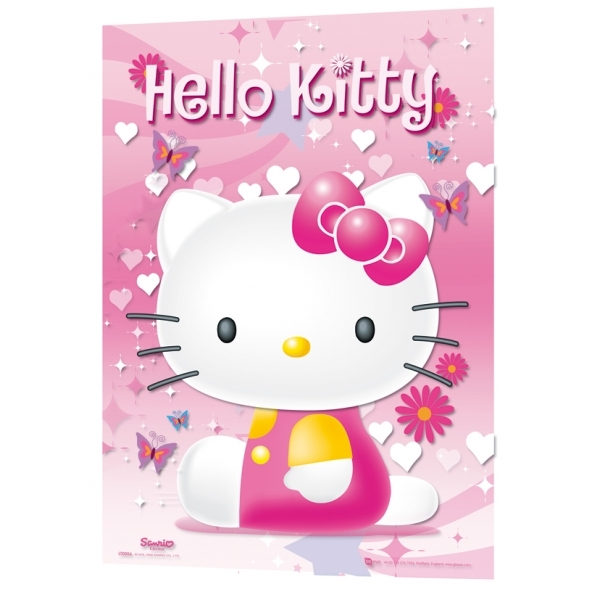 Hello Kitty Pink 3D Poster