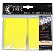 Ultra Pro Eclipse PRO-Matte Lemon Yellow Standard 100 Sleeves (case of 6)