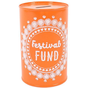Festival Fund Tin Money Box Pack Of 6