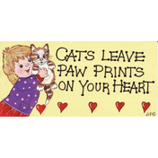 Cats Leave Paw Prints Pack Of 12