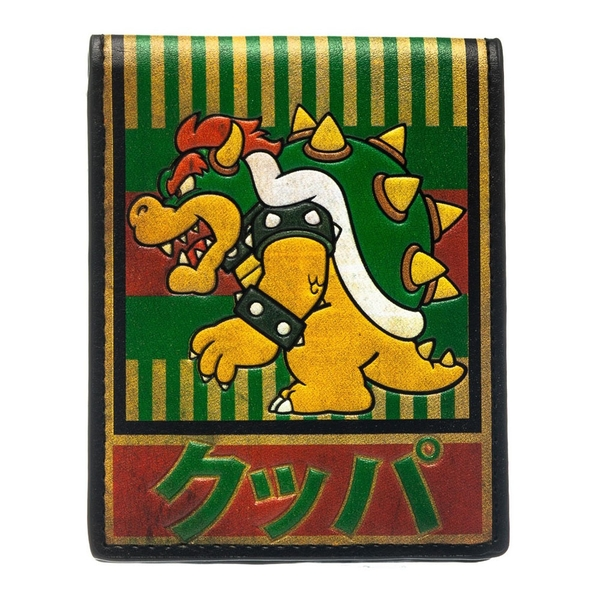 Nintendo - Bowser With Kanji Text Men's One Size Wallet - Multi-Colour