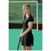 PT Ladies Polo Shirt Large Black/White
